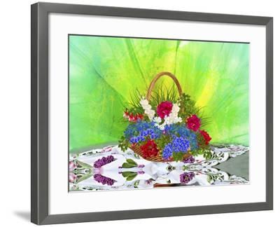 Flower Design Oc1-Ata Alishahi-Framed Giclee Print