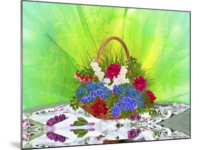 Flower Design Oc1-Ata Alishahi-Mounted Giclee Print