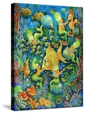 Mermaids and Gold Fish-Bill Bell-Stretched Canvas Print