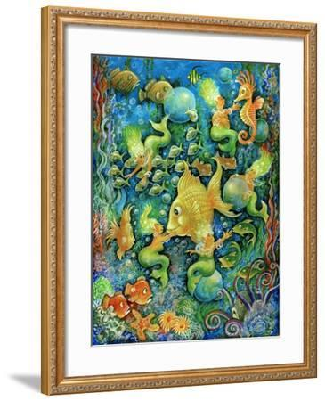 Mermaids and Gold Fish-Bill Bell-Framed Giclee Print
