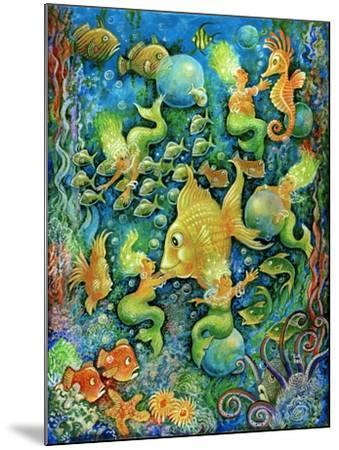 Mermaids and Gold Fish-Bill Bell-Mounted Giclee Print