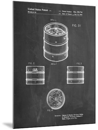 PP193- Chalkboard Miller Beer Keg Patent Poster-Cole Borders-Mounted Giclee Print