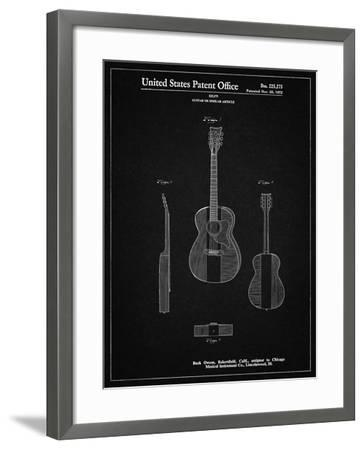 PP306-Vintage Black Buck Owens American Guitar Patent Poster-Cole Borders-Framed Giclee Print