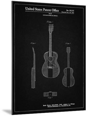 PP306-Vintage Black Buck Owens American Guitar Patent Poster-Cole Borders-Mounted Giclee Print