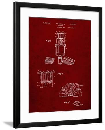 PP249-Burgundy RCA Ribbon Microphone Poster-Cole Borders-Framed Giclee Print