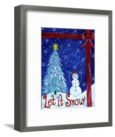 Let It Snow Christmas Tree-Cheryl Bartley-Framed Premium Giclee Print