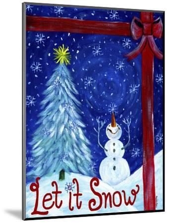 Let It Snow Christmas Tree-Cheryl Bartley-Mounted Premium Giclee Print