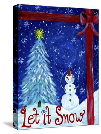 Let It Snow Christmas Tree-Cheryl Bartley-Stretched Canvas Print