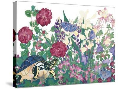 Turtle With Butterfly-Carissa Luminess-Stretched Canvas Print
