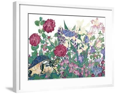 Turtle With Butterfly-Carissa Luminess-Framed Giclee Print