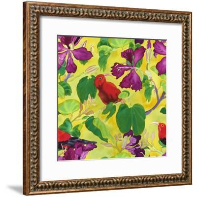 Liwis in Orchid Tree - Repeat Pattern-Carissa Luminess-Framed Giclee Print