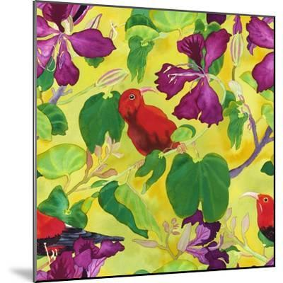 Liwis in Orchid Tree - Repeat Pattern-Carissa Luminess-Mounted Giclee Print
