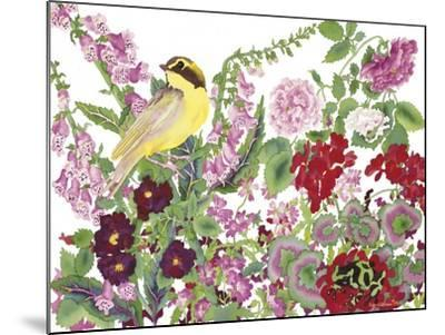 Warbler With Frog-Carissa Luminess-Mounted Giclee Print