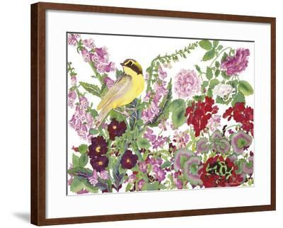 Warbler With Frog-Carissa Luminess-Framed Giclee Print