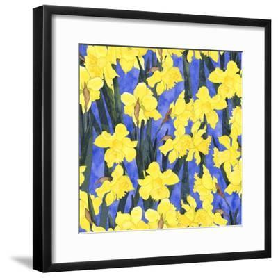 Fertile Rising Pattern - Daffodils-Carissa Luminess-Framed Giclee Print