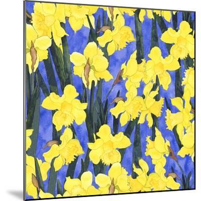Fertile Rising Pattern - Daffodils-Carissa Luminess-Mounted Giclee Print
