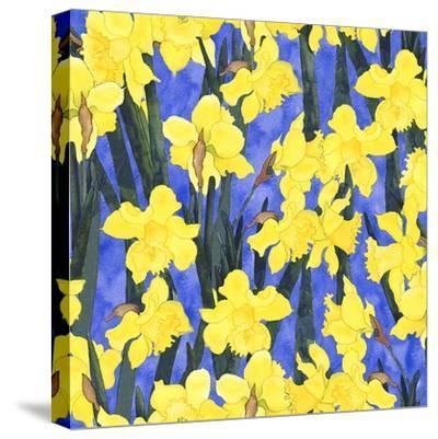 Fertile Rising Pattern - Daffodils-Carissa Luminess-Stretched Canvas Print