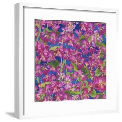Dance Of Love- Pink Flowers Repeat-Carissa Luminess-Framed Giclee Print