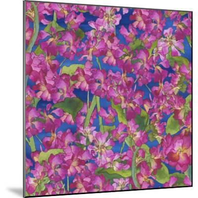 Dance Of Love- Pink Flowers Repeat-Carissa Luminess-Mounted Giclee Print