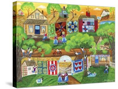 Olde Tyme Village Quilt Maker-Cheryl Bartley-Stretched Canvas Print
