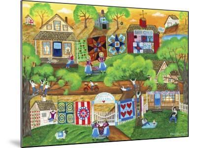 Olde Tyme Village Quilt Maker-Cheryl Bartley-Mounted Giclee Print