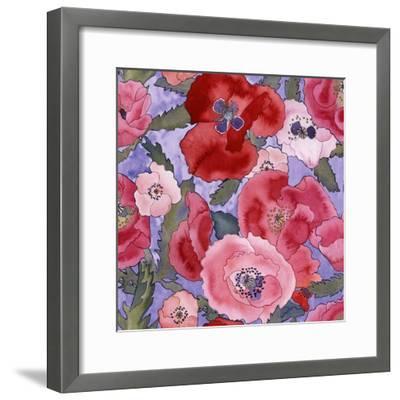 Poppies pattern- light-Carissa Luminess-Framed Giclee Print