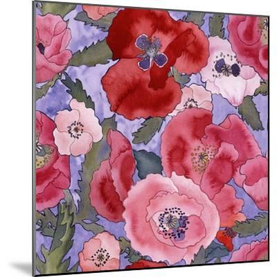 Poppies pattern- light-Carissa Luminess-Mounted Giclee Print