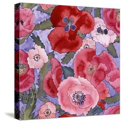 Poppies pattern- light-Carissa Luminess-Stretched Canvas Print