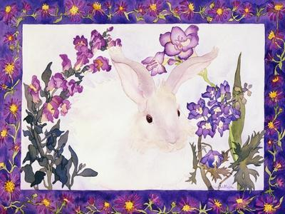 Aster Bunny-Carissa Luminess-Framed Giclee Print