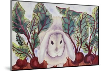 Bunny with Beets-Carissa Luminess-Mounted Giclee Print