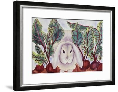 Bunny with Beets-Carissa Luminess-Framed Giclee Print