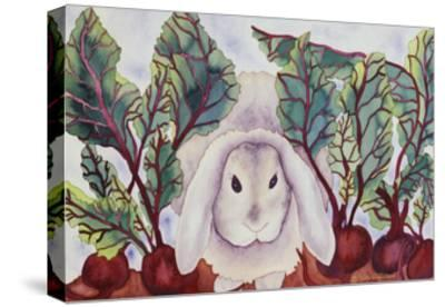 Bunny with Beets-Carissa Luminess-Stretched Canvas Print