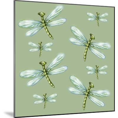 Dragonfly Pattern-Cherie Roe Dirksen-Mounted Giclee Print