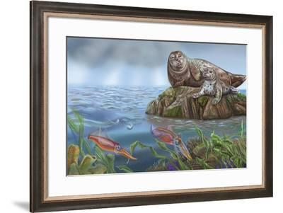 Pitter And Patter Spread 14-Cathy Morrison Illustrates-Framed Giclee Print