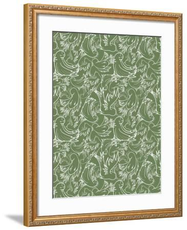 Folklore Doves Sketch Repeat-Cyndi Lou-Framed Giclee Print