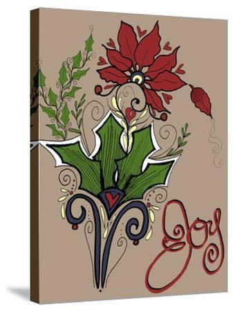 Folklore Holly Bouquet-Cyndi Lou-Stretched Canvas Print