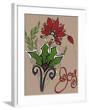 Folklore Holly Bouquet-Cyndi Lou-Framed Giclee Print