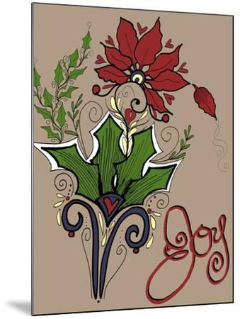 Folklore Holly Bouquet-Cyndi Lou-Mounted Giclee Print