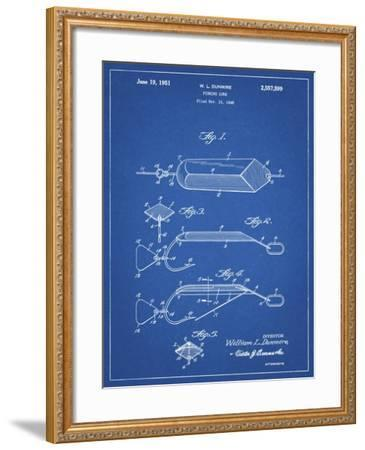 PP420-Blueprint Spoon Fishing Lure Poster-Cole Borders-Framed Giclee Print