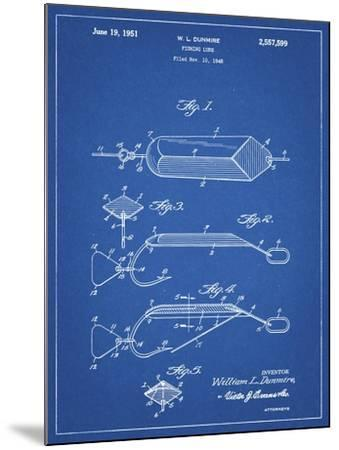 PP420-Blueprint Spoon Fishing Lure Poster-Cole Borders-Mounted Giclee Print