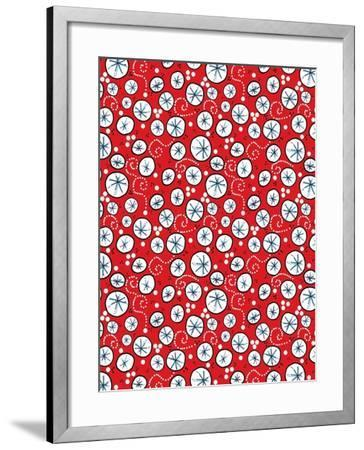 Tipsy Reindeer Wine Bubbles Repeat-Cyndi Lou-Framed Giclee Print