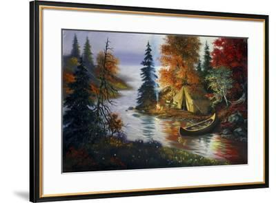 L27 Tent Canoe-D. Rusty Rust-Framed Giclee Print