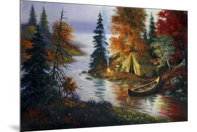 L27 Tent Canoe-D. Rusty Rust-Mounted Giclee Print