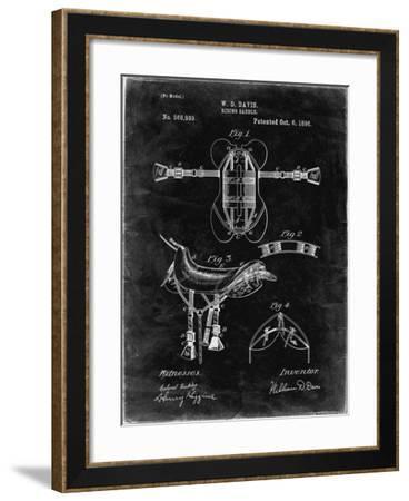PP444-Black Grunge Horse Saddle Patent Poster-Cole Borders-Framed Giclee Print