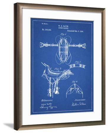 PP444-Blueprint Horse Saddle Patent Poster-Cole Borders-Framed Giclee Print
