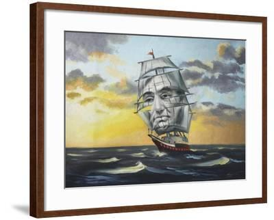 14238-Hr-Uss Lincoln Illusion-D. Rusty Rust-Framed Giclee Print