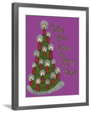Christmas Candle Tree-Cyndi Lou-Framed Giclee Print