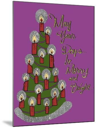 Christmas Candle Tree-Cyndi Lou-Mounted Giclee Print