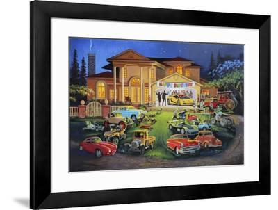 M-425-HR-FRIENDS-D. Rusty Rust-Framed Giclee Print