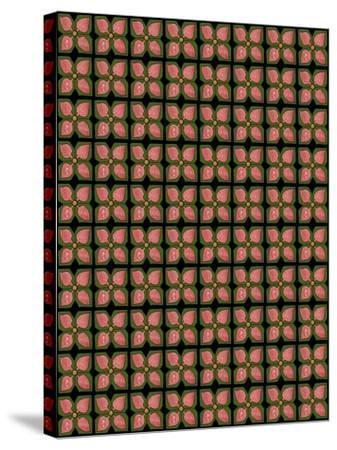 Christmas Pontsettia Repeat-Cyndi Lou-Stretched Canvas Print
